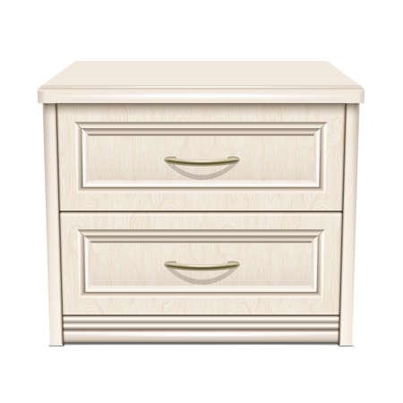 White bedside table Vektorgrafik
