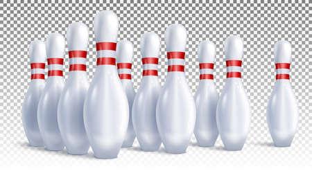 Bowling pins vector Stock fotó - 157458096