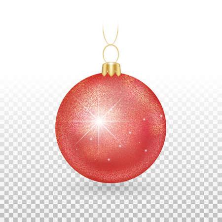 shiny christma ball red Vektoros illusztráció