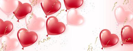 Banner Balloons eps  イラスト・ベクター素材