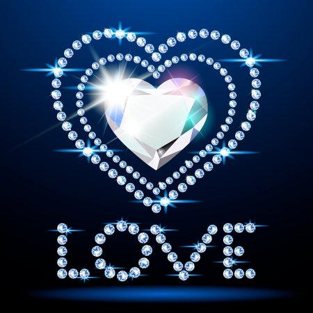 Neon diamond heart