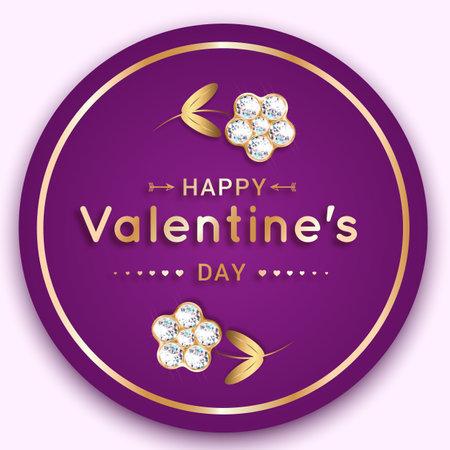 Round valentine banner