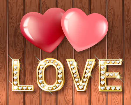 Text love and hearts