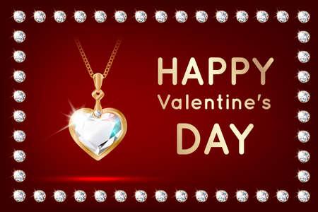 Banner diamond valentine