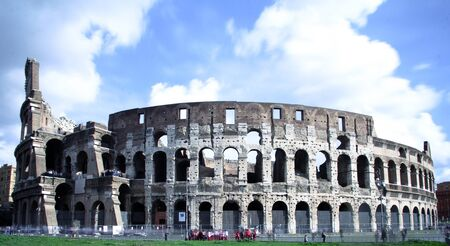 the famous and ancient coliseum in rome photo