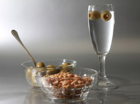 aperitif and olive