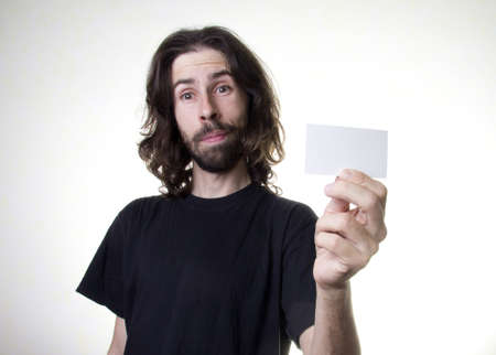 a men with the business card