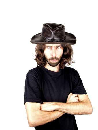 a men with the cowboy hat Stock Photo - 17242061