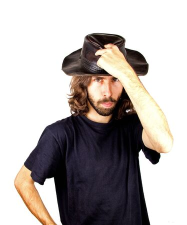 a men with the cowboy hat photo