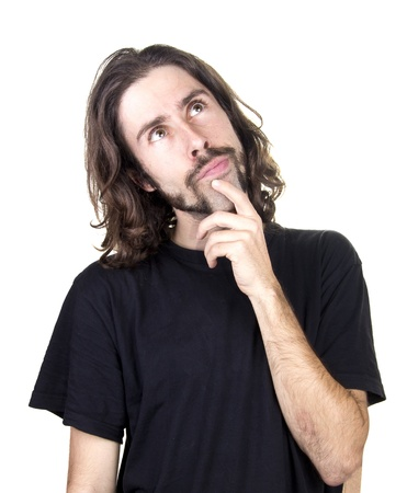 perplexity: a men and expression perplexity. Stock Photo
