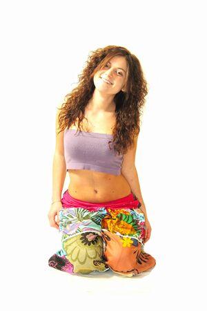 girl practice yoga Stock Photo - 17532661