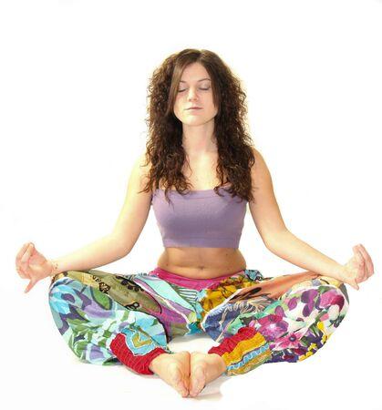 girl practice yoga photo