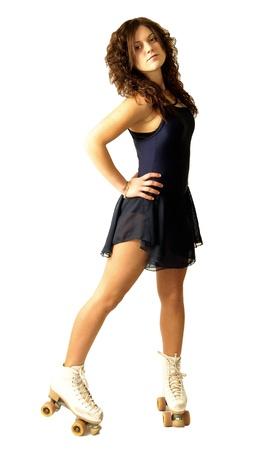 roller blade: a girl in roller skate