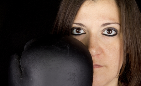 boxing girl Stock Photo - 17647126