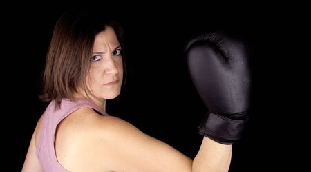 boxing girl Stock Photo - 17647151