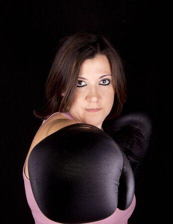 boxing girl Stock Photo - 17647150