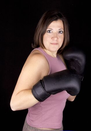 boxing girl Stock Photo - 17647123
