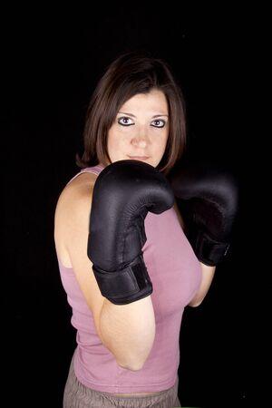 boxing girl Stock Photo - 17647124