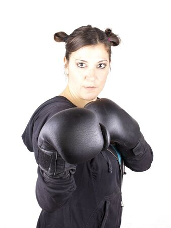 boxing girl Stock Photo - 17892551