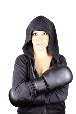 boxing girl Stock Photo - 17892562