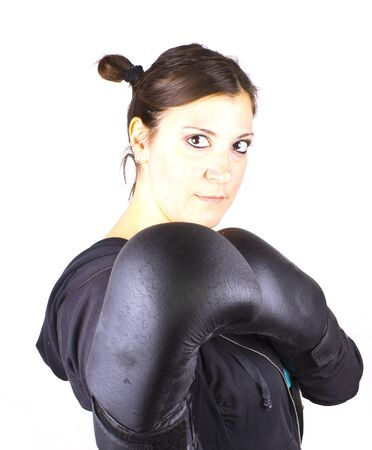 boxing girl Stock Photo - 17902630