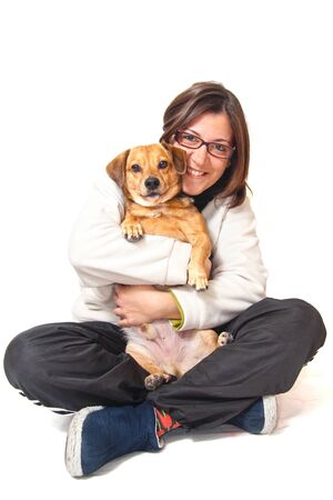 girl and dog Stock Photo - 18068286