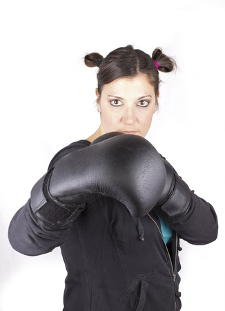 fight girl Stock Photo - 18068288
