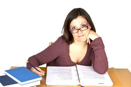 girl studyng photo