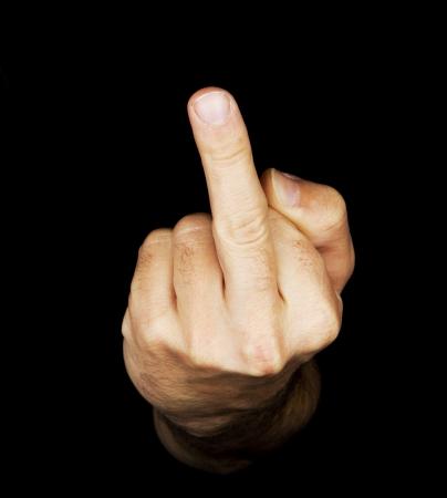 frauenarsch: Hand in dem schwarzen Hintergrund