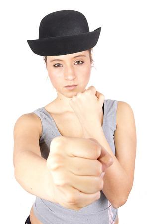 girl punch photo