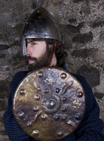 medioeval: a medioeval soldier Stock Photo