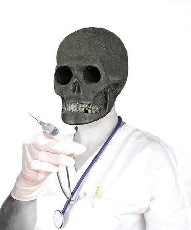 doctor dead Stock Photo