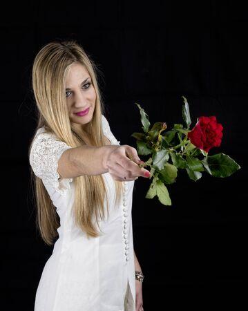blond rose