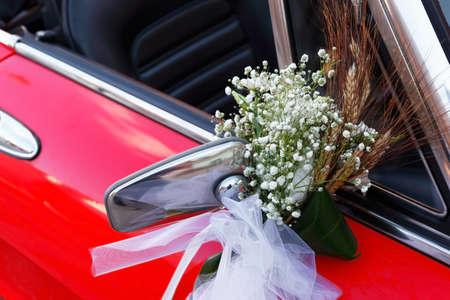 in particular: Particular of wedding vintage car