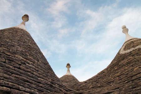 trulli: Roofs of Trulli, Alberobello, Itria Valley, Apulia, Italy, Europe Stock Photo