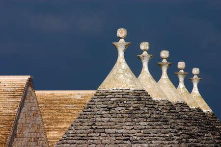 trulli: Roofs of trulli, Alberobello, Apulia, Italy