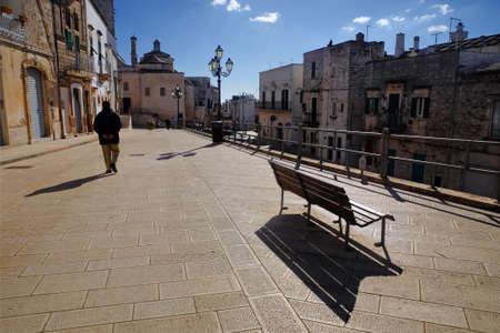 san quirico: San Quirico street with San Nicola Mother Church on the background, Cisternino, Itrian Valley, Apulia, Italy, Europe
