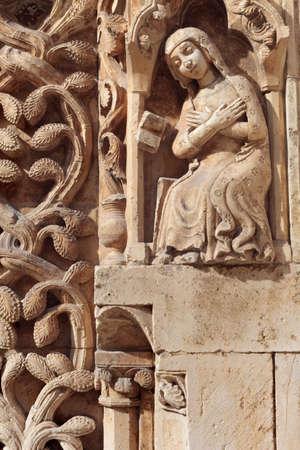 in particular: Particular of Altamura Cathedral facade, romanesque style, Apulia, Italy