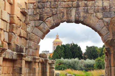 Greek Roman ruins and Sanctuary, Tindari, Sicily, Italy Banco de Imagens