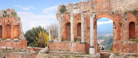 taormina: Greek Theater of Taormina, Sicily, Italy