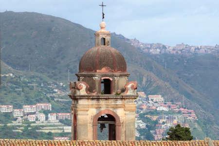 taormina: Bell tower of Saint Giuseppe church, Taormina, Sicily, Italy