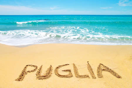 Summer in Puglia, beach and sea, Italy