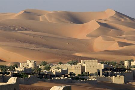 Abu Dhabi de woestijn Stockfoto