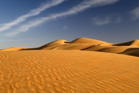 de grote duin woestijn in de wereld Stockfoto