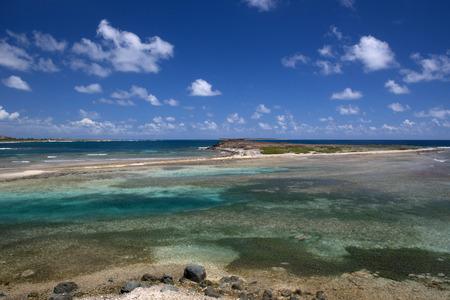 caribbean island: Beautiful beach in a caribbean island Stock Photo