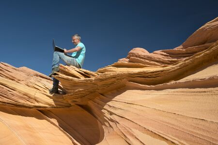 vermilion: Businessman, Paria Canyon, Vermilion Cliffs, Arizona