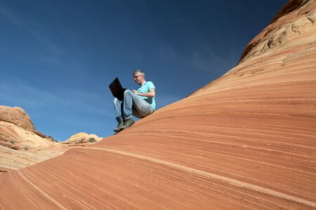 Businessman, Paria Canyon, Vermilion Cliffs, Arizona