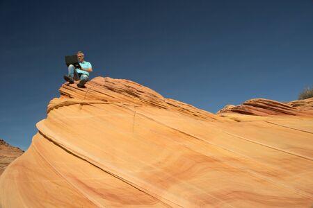 paria canyon: Businessman, Paria Canyon, Vermilion Cliffs, Arizona