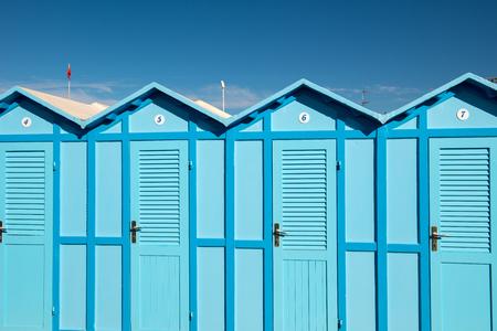 adriatic: Cabin beach in Rimini, Adriatic sea