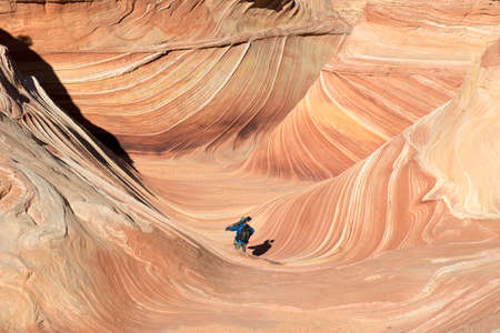 wilderness area: The Paria Canyon-Vermilion Cliffs Wilderness is a 112,500 acres 455 km2 wilderness area located in northern Arizona and southern Utah, USA, within the arid Colorado Plateau region. The wilderness is composed of broad plateaus, tall escarpments, and deep c Stock Photo